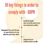 10 key things in order to comply with GDPR