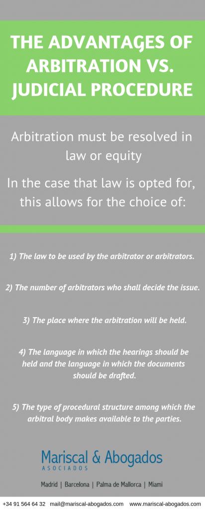 The advantages of arbitration vs. judicial procedure