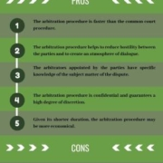 F: Pros and cons of the arbitration clause in business contracts
